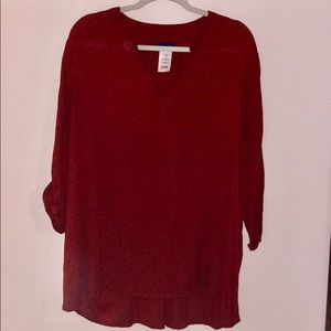 ⚡️NWOT⚡️Basic Editions Long Sleeve Blouse
